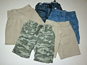 Lot of 5 Boys Size 4 Khaki Denim Camo Shorts (Parker, Old Navy, Gap)