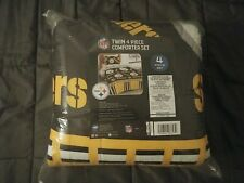 "Pittsburgh Steelers Nfl Twin 4 Piece Comforter Set - ""Bed in a bag"""