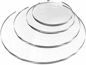Laser Cut Clear Acrylic Sheet Disk Plastic Circle Perspex Sheet Round Diameter