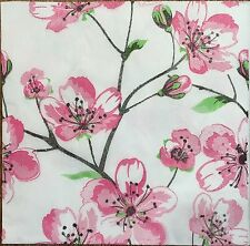2 single paper napkin Decoupage Serviette Collection Sakura Cherry-tree Oriental