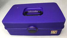 Vtg Caboodles Gemstone Jewelry Makeup Organizer Craft Case Purple Large 2410