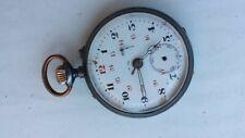 Ancienne montre à gousset réveil avec sonnerie à restaurer