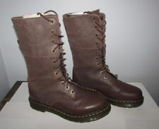 Dr Martens Ladies Womens US Size 10 Hazil Brown Leather 11-eye Slouch Boots Doc