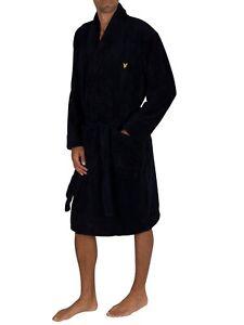 Lyle & Scott Black Lucas Mens Dressing Gown BNWT