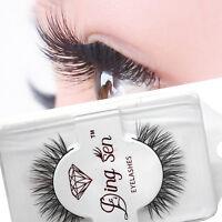 1 Pair Mink Black Natural Fake Thick Eye Lashes False Eyelashes Soft long  uk