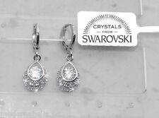 orecchini da Donna p. oro 18K con cristalli zirconi Swarovski veri SW8/11 goccia