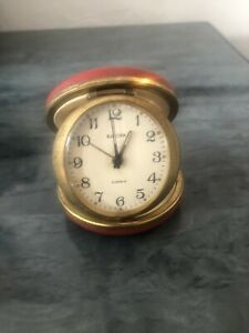 Vintage Europa Jewels Wind Up Travel Clock Fully Working Order