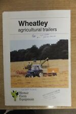 wheatley agricultural trailers fold out sales brochure vintage antique tractor