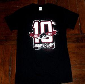 Cleveland Monsters 10th Anniversary 2017 Black SMALL T-Shirt AHL Minor Hockey