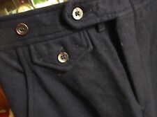 23x33 True Vtg 60s Womens Sir For Her Navy Blue Wool Flared Mod Jeans Pants
