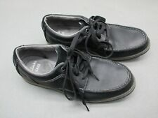 Clarks Size 9M Men's Black Round Toe Lace Lightweight Leather Shoes 1B