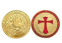 Masonic Knights Templar Cross Coin/Medal  Deus Vult Special Forces