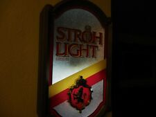 "Vintage STROH LIGHT Electric Light-up Wall Beer Sign 1986 18.5"" Tall"