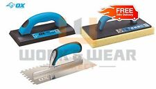 Ox Tools Pro Series quality tilers kit, grout, float, notch trowel in stock
