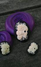 SUGAR SKULL TRIO MOLD Set Cameo Silicone  mold polymer clay resin  sugar craft