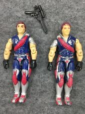 Vintage Original GI Joe 1985 Cobra Crimson Twins lot Tomax Xamot Figure gun