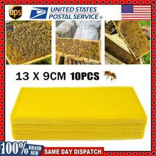 10pcs Honeycomb Foundation Bee Sheet Hive Wax Frames Waxing Beekeeping Equipment