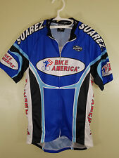 NEW WITH TAGS XS CYCLING SHIRT RACE JERSEY Royal Blue, Black, Red, White Pockets