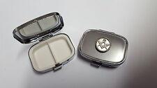 Masonic PP-G25 English Pewter Emblem Rectangular Travel Metal Pill Box