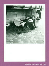 PHOTO DE POLICE CONSTAT D'ACCIDENT CRASH, CAMION CONTRE MOTO, 1955 -J54