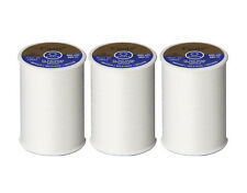 Coats and Clark Dual Duty All Purpose Thread, White (3 Pack) 400yd Spools