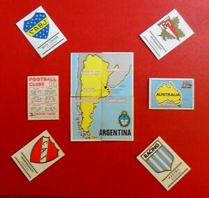 PANINI FOOTBALL CLUBS BADGES ECUSSON  MAPS  Stickers au choix pick choice 1975