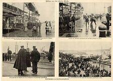 Bilder von der Kieler Woche * 4 historische Aufnahmen von 1904