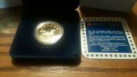 1987 Canadian Proof Loonie One Dollar Coin with Box & COA