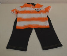 Carter's Boys' 2PC Pants Outfit-ORANGE STRIPE EXPLORER-3T-NWT