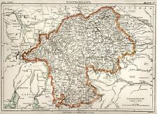 Encyclopedia Britannica 9th - 1876- Map - Westmorland