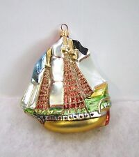 Kurt Adler Polonaise Christmas Ornament Sailing Ship Komozja Nib (P3)