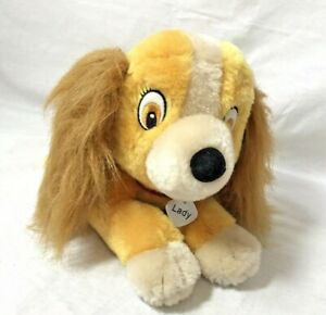 "Vtg  LADY Tramp Disney plush Applause lying down 12"" Cocker spaniel stuffed"
