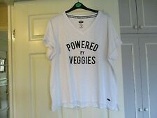 Ladies  Size XL Workout t shirt White by Wicked