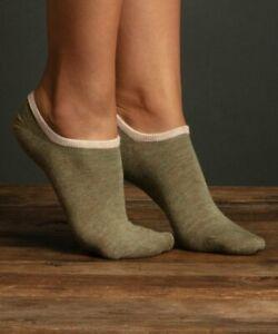 Lemon Legwear Womens One Size Fits Most Basil Butter Two-Pair Sock Set Green $12