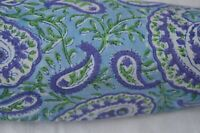 3 Yard .Indian Hand Block Print Fabric 100% Cotton Crafting By Paisley Cotton