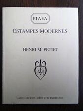 Catalogue Estampe Moderne Collection Henri Petiet Maillol Gauguin Matisse 2010
