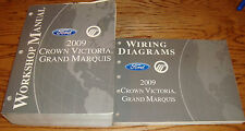 2009 Ford Crown Victoria Mercury Grand Marquis Shop Service Manual + Wiring Set