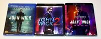 John Wick (Blu-Ray), Chapter 2 & 3 (4K Ultra HD + Blu-Ray + Digital) Brand New