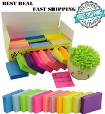 Post-It Sticky Notes Pop Up Memo Reminder Neon Colors 2400 24 Pads 100 Sheets
