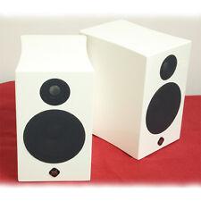 """Ypl Audio B Series Br High Gloss White 2 Way 4"""" Bookshelf Speakers New Pair"""