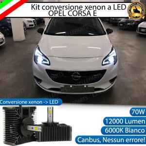 KIT LED D5S CONVERSIONE BI XENON BIXENO A LED OPEL CORSA E 12000 LUMEN 6000K