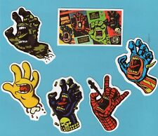 Lot of 5 Screaming Hand Vinyl Stickers + 1 Extra Sticker for Skateboard/Laptop