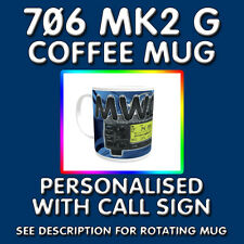 PRINTED COFFEE MUG IC-706 MK2 G HAM AMATEUR RADIO PERSONALISED CALL SIGN & RADIO