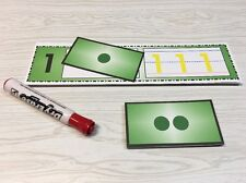 Numbers 0- 20 Counting Kit - Match & Write - 42 Pieces Laminated dry erase cards