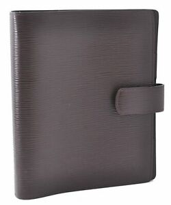 Authentic Louis Vuitton Epi Agenda GM Day Planner Cover Brown LV A5874