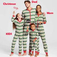 Family Matching Christmas Pajamas Set Women Baby Kid Pumpkin Sleepwear Nightwear