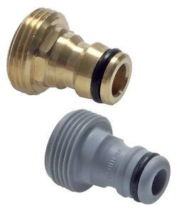 """GARDENA o. Messing Kupplungsstecker Außengewinde Geräteadapter G 1/4"""" 1/2"""" 3/4"""""""