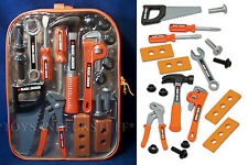 New BLACK & DECKER Junior 20-Piece BACKPACK PLAY TOOL SET Hammer PRESCHOOL