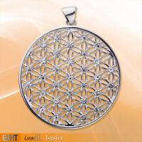 Echt etNox Blume des Lebens Anhänger Zirkonia Silber Gothic Schmuck - NEU