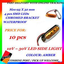 10x 12v 24v Amber Led Side Marker Tail Light Lamp Clearance Trailer Truck BZ